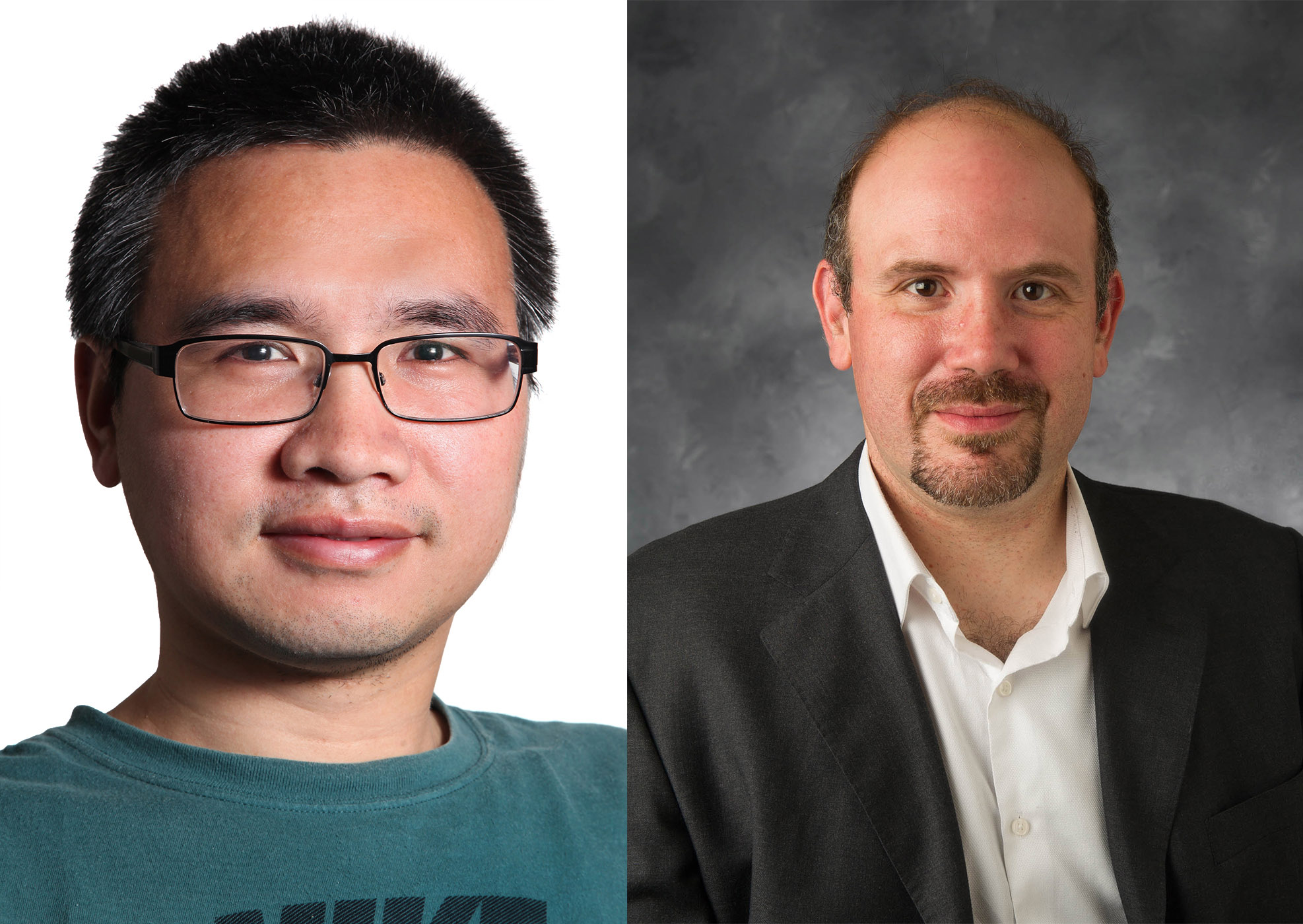 Headshots of Wei Zhang and Gabriele Villarini