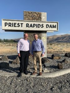 Gabriele and Troy in front of the Priest Rapids Sign