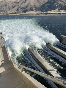 Priest Rapids Dam from above