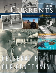 Collage of vintage photos on the IIHR Currents cover