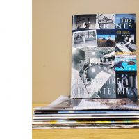 A stack of Currents magazines