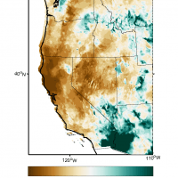 Map illustrating drought in the western U.S.